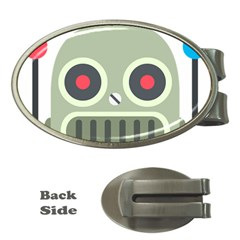 Robot Money Clips (oval)  by BestEmojis