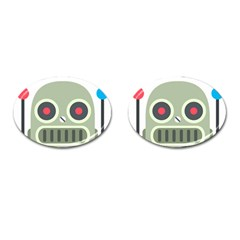 Robot Cufflinks (oval)