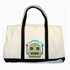 Robot Two Tone Tote Bag by BestEmojis