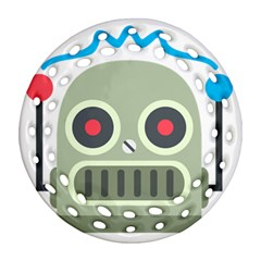 Robot Round Filigree Ornament (two Sides) by BestEmojis