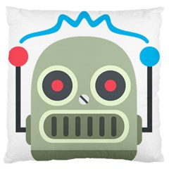 Robot Standard Flano Cushion Case (two Sides) by BestEmojis