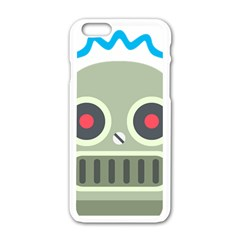 Robot Apple Iphone 6/6s White Enamel Case by BestEmojis