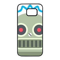 Robot Samsung Galaxy S7 Edge Black Seamless Case by BestEmojis