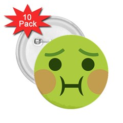 Barf 2 25  Buttons (10 Pack)  by BestEmojis