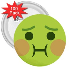 Barf 3  Buttons (100 Pack)  by BestEmojis