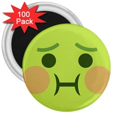 Barf 3  Magnets (100 Pack) by BestEmojis