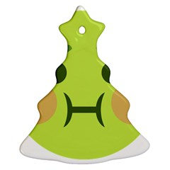 Barf Christmas Tree Ornament (two Sides) by BestEmojis