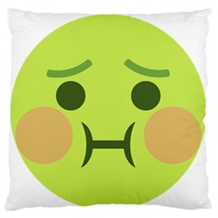 Barf Standard Flano Cushion Case (one Side) by BestEmojis