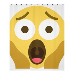 Scream Emoji Shower Curtain 60  X 72  (medium)  by BestEmojis
