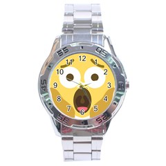 Scream Emoji Stainless Steel Analogue Watch by BestEmojis
