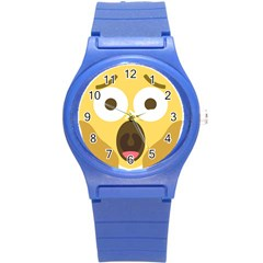 Scream Emoji Round Plastic Sport Watch (s) by BestEmojis