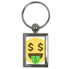 Money Face Emoji Key Chains (rectangle)  by BestEmojis
