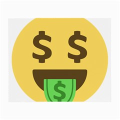 Money Face Emoji Small Glasses Cloth (2 Side)