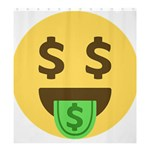 Money Face Emoji Shower Curtain 66  x 72  (Large)  58.75 x64.8  Curtain