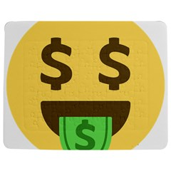 Money Face Emoji Jigsaw Puzzle Photo Stand (rectangular) by BestEmojis