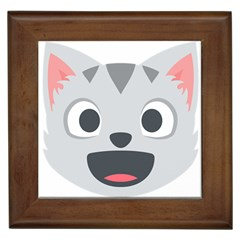 Cat Smile Framed Tiles
