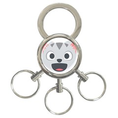 Cat Smile 3 Ring Key Chains by BestEmojis