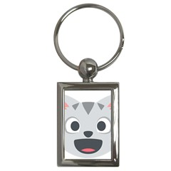 Cat Smile Key Chains (rectangle)  by BestEmojis