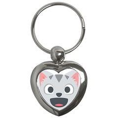 Cat Smile Key Chains (heart)  by BestEmojis