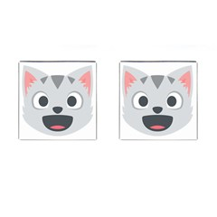Cat Smile Cufflinks (square) by BestEmojis