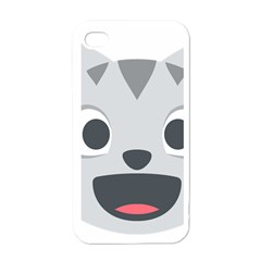Cat Smile Apple Iphone 4 Case (white) by BestEmojis