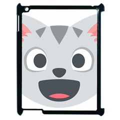 Cat Smile Apple Ipad 2 Case (black) by BestEmojis