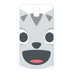 Cat Smile Samsung Galaxy Note 3 N9005 Hardshell Back Case by BestEmojis