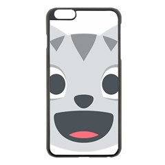 Cat Smile Apple Iphone 6 Plus/6s Plus Black Enamel Case by BestEmojis