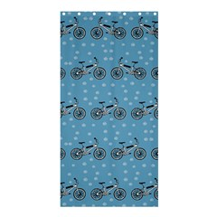 Bicycles Pattern Shower Curtain 36  X 72  (stall)  by linceazul