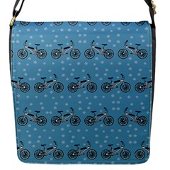 Bicycles Pattern Flap Messenger Bag (s) by linceazul