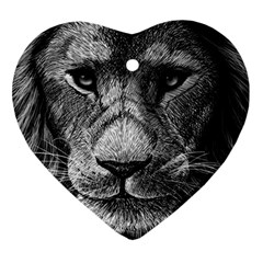 My Lion Sketch Ornament (heart) by 1871930