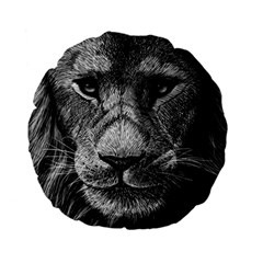 My Lion Sketch Standard 15  Premium Flano Round Cushions by 1871930