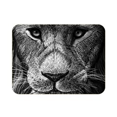 My Lion Sketch Double Sided Flano Blanket (mini)