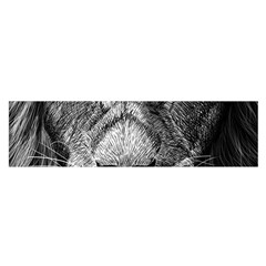 My Lion Sketch Satin Scarf (oblong)
