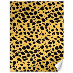 Skin Animals Cheetah Dalmation Black Yellow Canvas 36  X 48   by Mariart