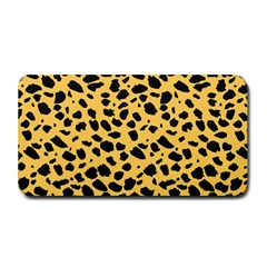 Skin Animals Cheetah Dalmation Black Yellow Medium Bar Mats