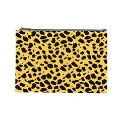 Skin Animals Cheetah Dalmation Black Yellow Cosmetic Bag (large)