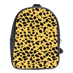 Skin Animals Cheetah Dalmation Black Yellow School Bags(large)