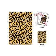 Skin Animals Cheetah Dalmation Black Yellow Playing Cards (mini)  by Mariart