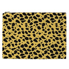 Skin Animals Cheetah Dalmation Black Yellow Cosmetic Bag (xxl)  by Mariart
