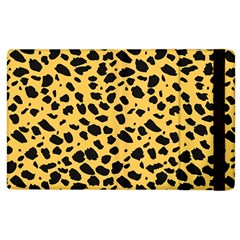 Skin Animals Cheetah Dalmation Black Yellow Apple Ipad 2 Flip Case by Mariart