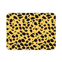 Skin Animals Cheetah Dalmation Black Yellow Double Sided Flano Blanket (mini)  by Mariart