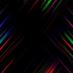 Streaks Line Light Neon Space Rainbow Color Black Magic Photo Cubes by Mariart