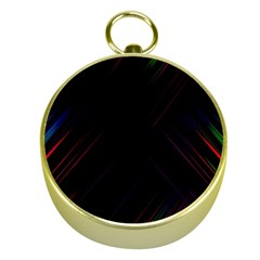 Streaks Line Light Neon Space Rainbow Color Black Gold Compasses by Mariart