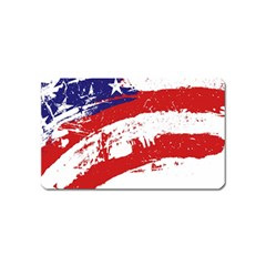 Red White Blue Star Flag Magnet (name Card) by Mariart