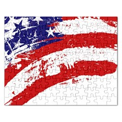 Red White Blue Star Flag Rectangular Jigsaw Puzzl by Mariart