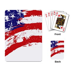 Red White Blue Star Flag Playing Card by Mariart
