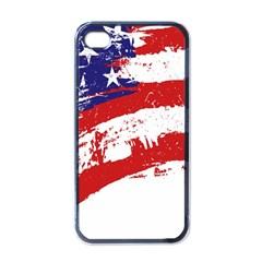 Red White Blue Star Flag Apple Iphone 4 Case (black) by Mariart