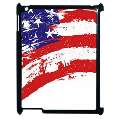 Red White Blue Star Flag Apple Ipad 2 Case (black) by Mariart