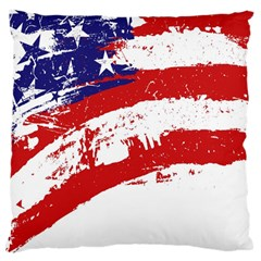 Red White Blue Star Flag Large Cushion Case (one Side) by Mariart